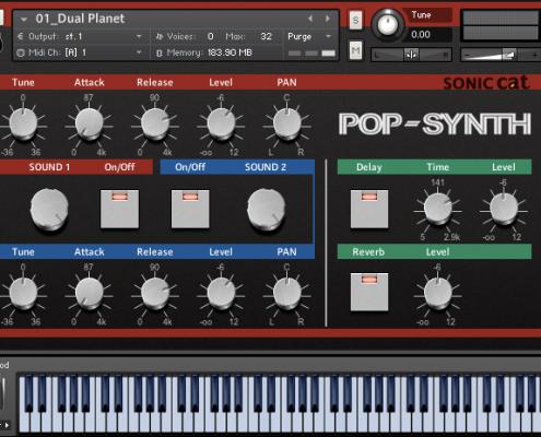 Pop Synth GUI