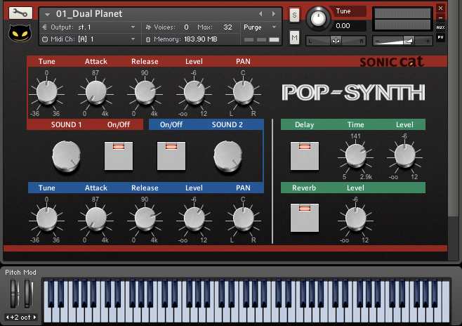 Pop Synth GUI